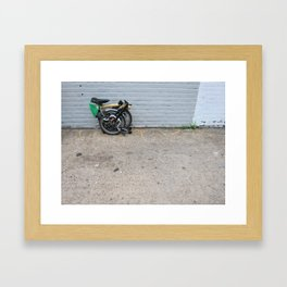 Brompton Folding Bike Framed Art Print