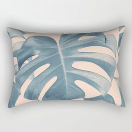 Tropical Monstera Leaves Dream #5 #tropical #decor #art #society6 Rectangular Pillow
