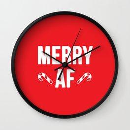 Merry AF Wall Clock