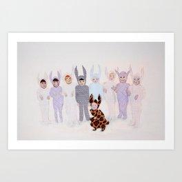 The Bunny Ballet Art Print