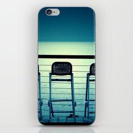 Blue Bar Stools iPhone Skin