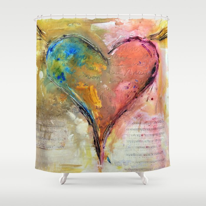 Heart of a lover Shower Curtain
