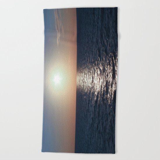 Sunset, Santorini Beach Towel