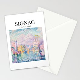 Signac - La Tour Rose, Marseille Stationery Cards