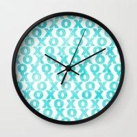 xoxo Wall Clocks featuring xoxo by Sandra Arduini