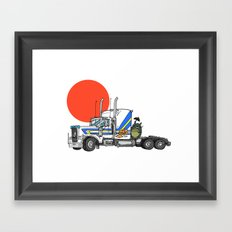 No Trouble in Little Japan Framed Art Print