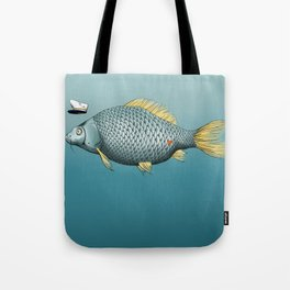 Captain Carp Tote Bag