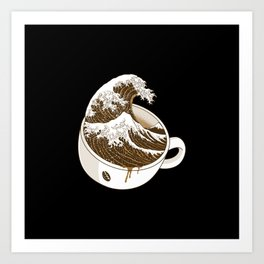 The Great Wave off Coffee Art Print