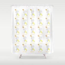 George Squashington Shower Curtain