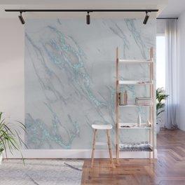 Marble Love Electric Blue Metallic Wall Mural