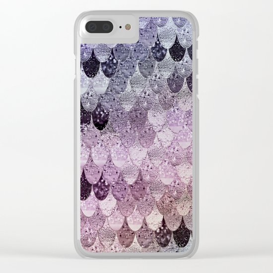 SUMMER MERMAID - PURPLE RAINBOW Clear iPhone Case