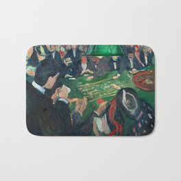 At the Roulette Table in Monte Carlo by Edvard Munch Bath Mat
