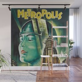 Vintage 1926 'Metropolis' Lobby Card Movie Film Poster by Fritz Lang Wall Mural