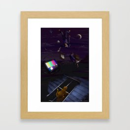 falling in love with complacency Framed Art Print