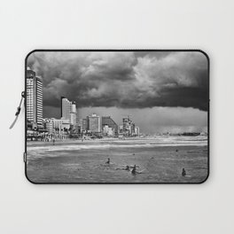 Surfers waiting for the wave, Tel-Aviv, israel Laptop Sleeve