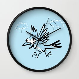 Idiot fliying bird Wall Clock