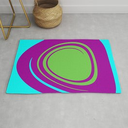 Aqua Purple Green Rug
