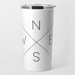 Geometric Minimal Compass Travel Mug