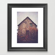 She Created Stories About Abandoned Houses Framed Art Print