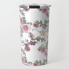Project 52 | Pale Roses on White Travel Mug