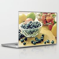 fruits Laptop & iPad Skins featuring Fruits by Nieves Montano