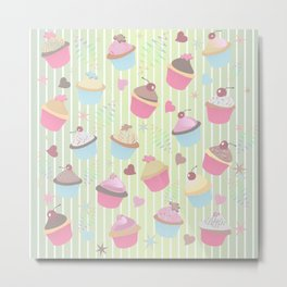Cupcakes with love Metal Print