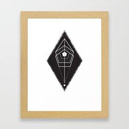 Rhombus texture geometry Framed Art Print