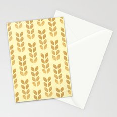 Golden geometric knit inspired Stationery Cards
