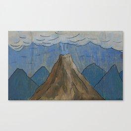Volcano at night Canvas Print