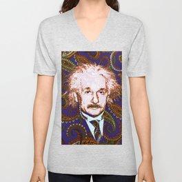 psychedelic quantum physics genius E = mc2 Unisex V-Neck