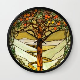 Louis Comfort Tiffany - Decorative stained glass 6. Wall Clock