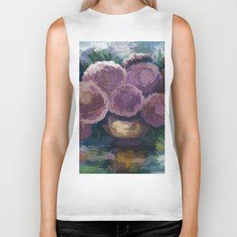 Just For You Pink Toned Roses Biker Tank