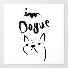 dogue french bulldog Canvas Print