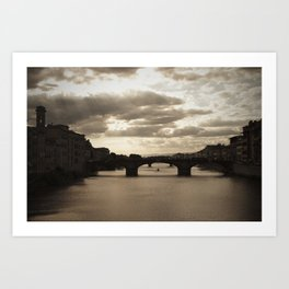 The Arno river  Art Print