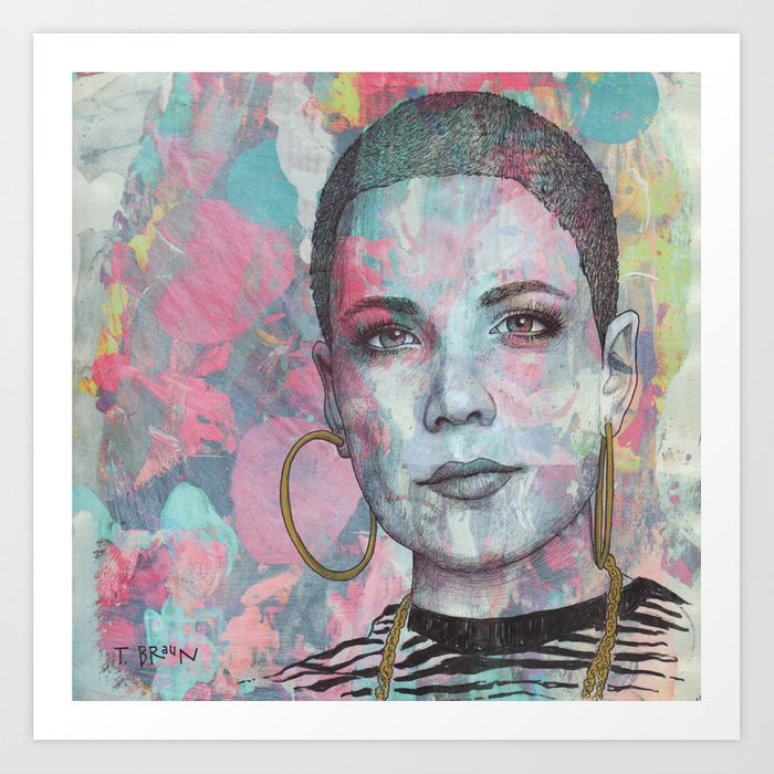 Halsey - Without Me Art Print by tbraunstudio