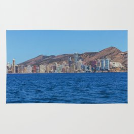 Benidorm city and sea Rug