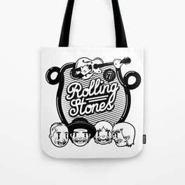 Rolling Music Tote Bag