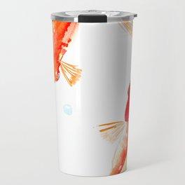 Goldfish, Two Koi Fish, Feng Shui, yoga Asian meditation design Travel Mug