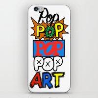 pop art iPhone & iPod Skins featuring Pop, Pop, Pop, Pop Art by Raheem Nelson