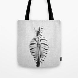 Zebra Tail - Black & White Tote Bag