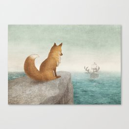 The Day the Antlered Ship Arrived Canvas Print