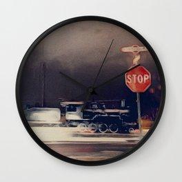 Train in Flagstaff Wall Clock