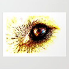 Golden Eye Art Print