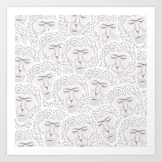 KEEP WARM Art Print