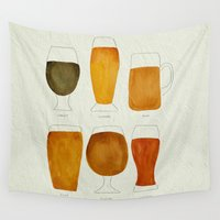 beer Wall Tapestries featuring Beer by Cat Coquillette