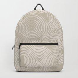 Radial Block Print in Tan Backpack