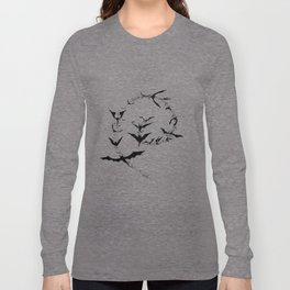 Bat Spiral Long Sleeve T-shirt