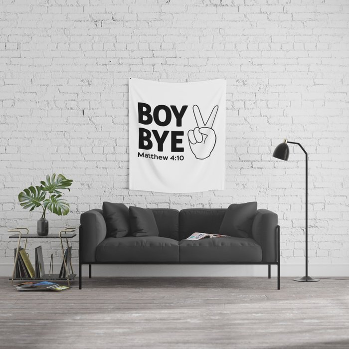 Boy Bye Wall Tapestry