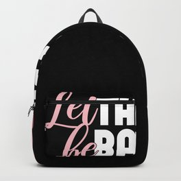 Let there be Bacon funny shirt motiv Backpack