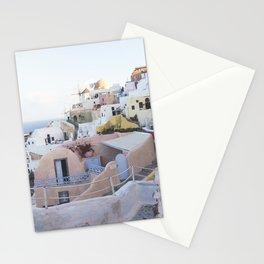 Dusk in Santorini, Greece Stationery Cards